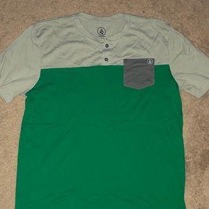 Green and Tan Volcolm shirt
